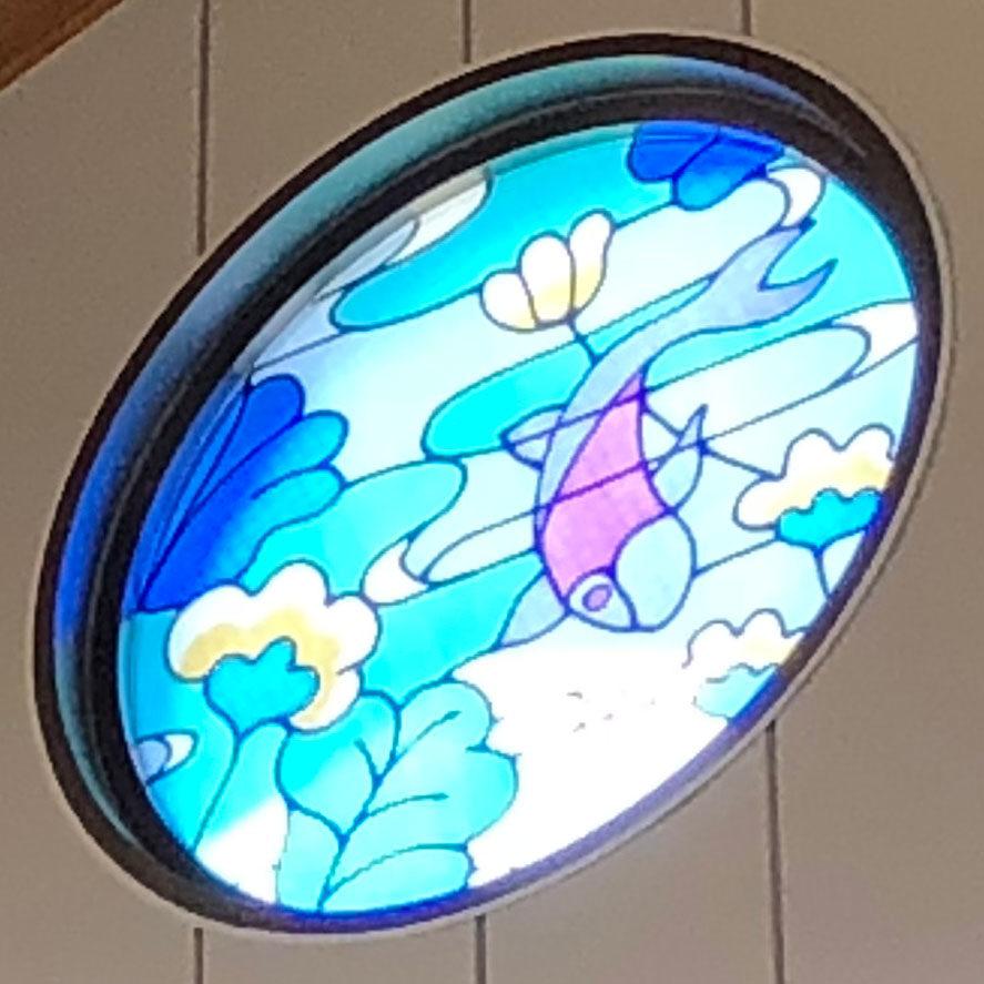 千年温泉_本物のオリジナルステンドグラス